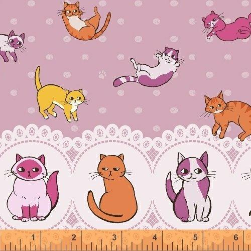 Caturday Raining Cats doble border