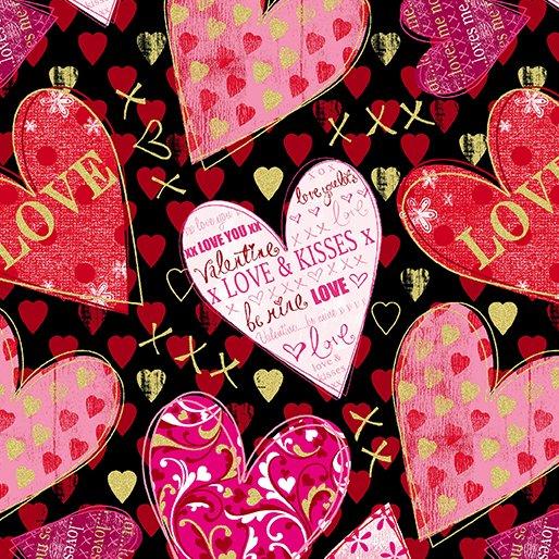 Cherish-Hearts of Love-Black