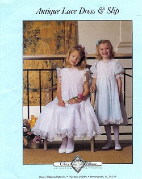 Antique Lace Dress & Slip 3-12 # 125 by Chery Williams