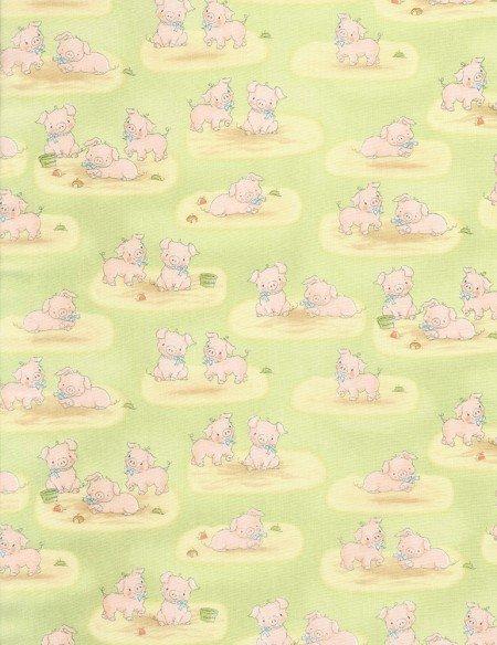 Cotton Tale Farm - Green Pigs