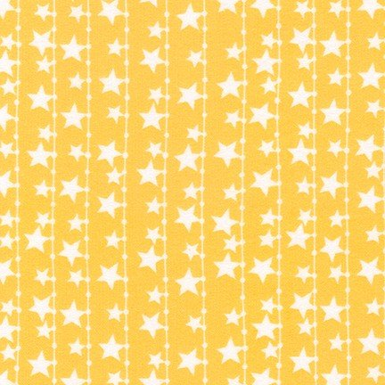 Cuddly Kittens 2 Flannel-String of Stars-Orange
