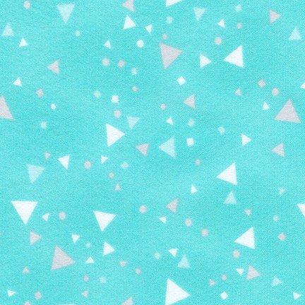 Cuddly Kittens 2 Flannel-Triangles-Aqua