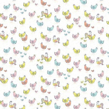 Deja Moo-Chickens-White