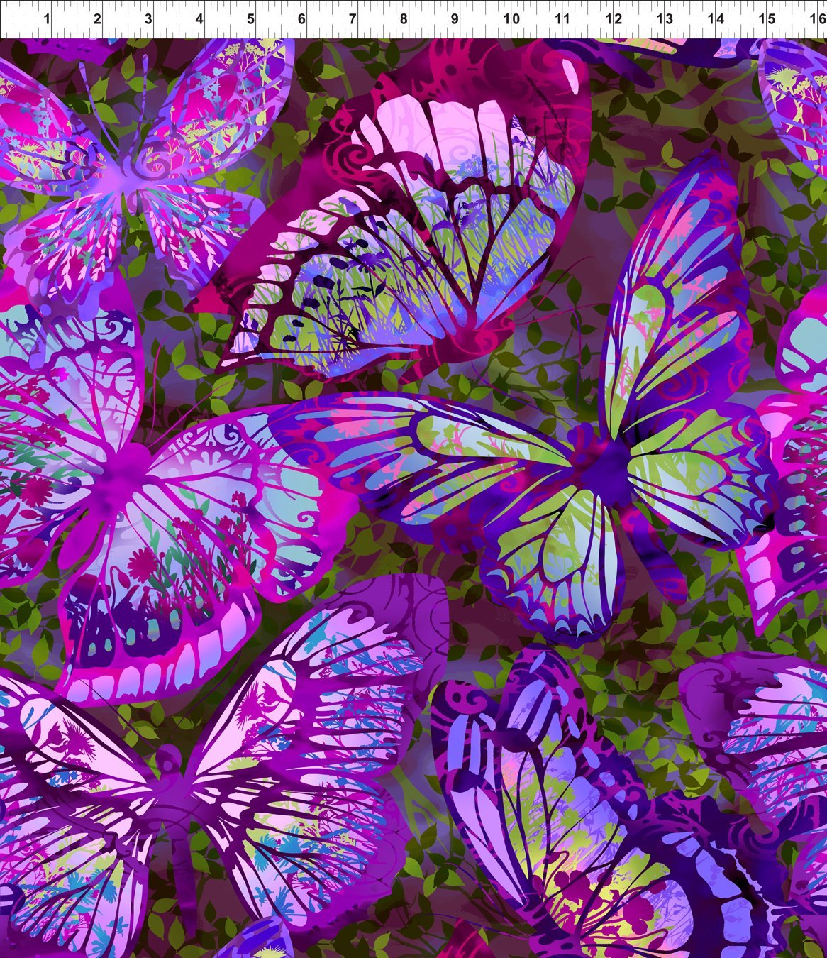 Dreamscapes II-Lg Butterflies-Purple