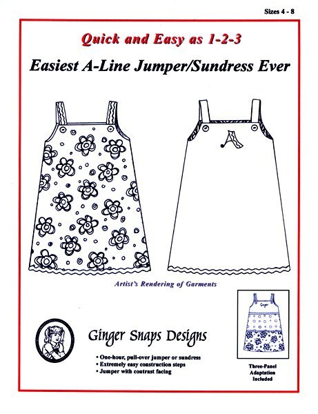 Easiest A-Line Jumper/Sundress EverSz 4yrs-8yrs
