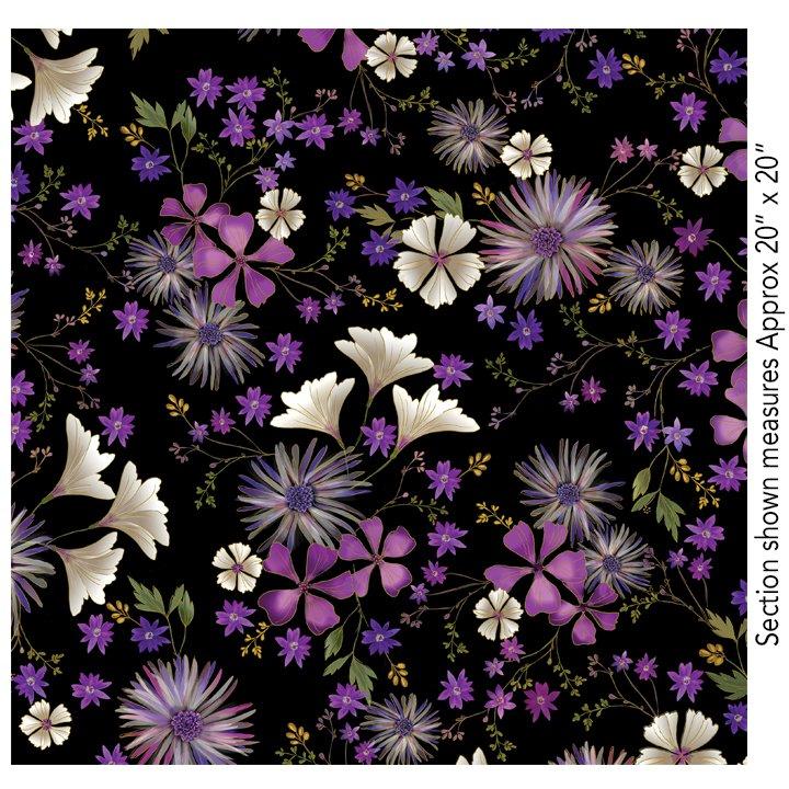 Enchanted-Garden Floral-Black