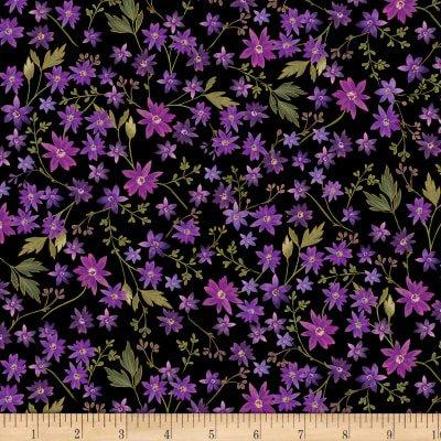 Enchanted-Mini Floral-Black