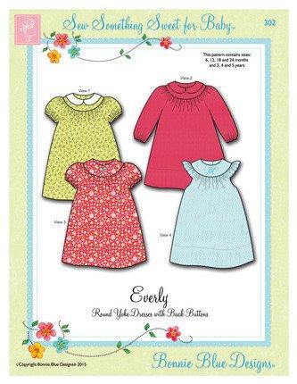 Everly #302 sizes 6m-5y by bonnie Blue Designs