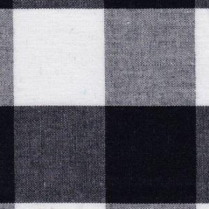 Gingham Fabric 1 Black 60 Wide