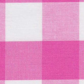 Hot Pink Gingham 1 Fabric – 60 Wide