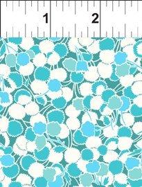 Garden Delights II-Puffs-Turquoise