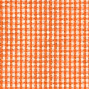 Gingham-Orange & White 1/16% 100%Cotton