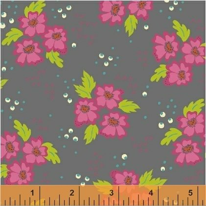 Gypsy-Leaf Floral Clusters-Charcoal