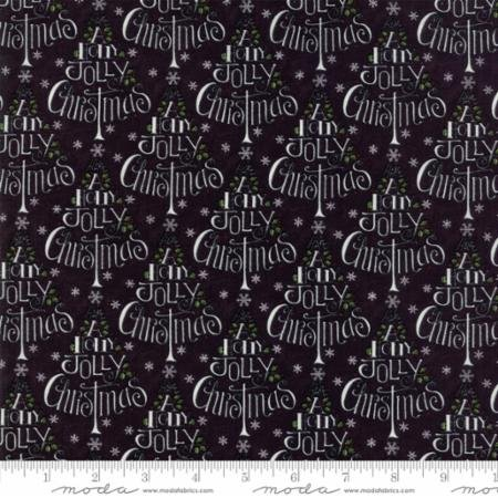 Hearthside Holiday BRUSHED-Holly Jolly Trees-Charcoal Bla