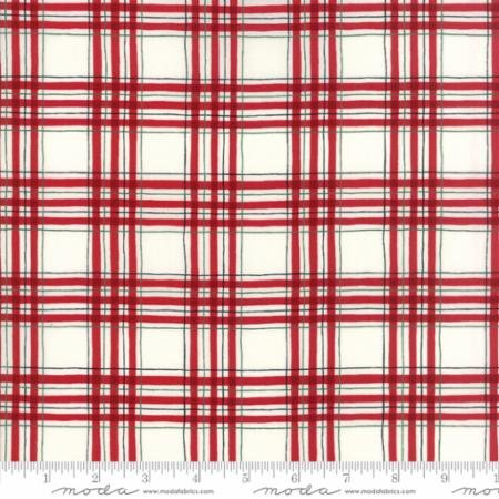 Hearthside Holiday BRUSHED-Plaid White/Red