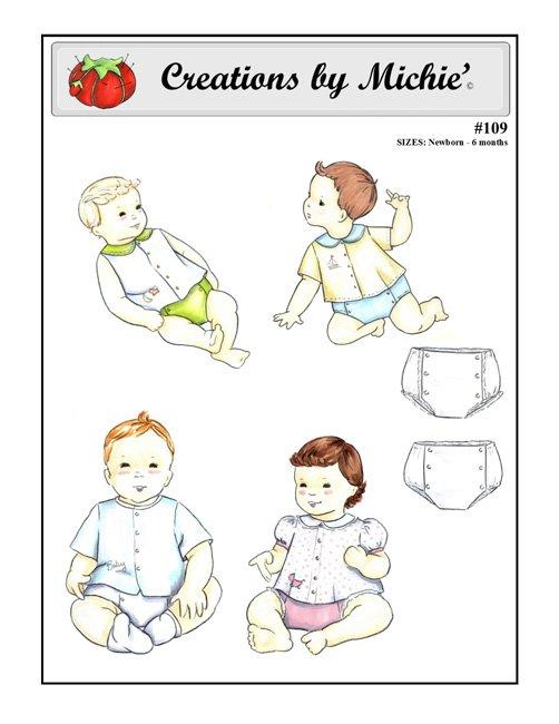Infant Shirt & Diaper Cover newborn - 6 mos. #109