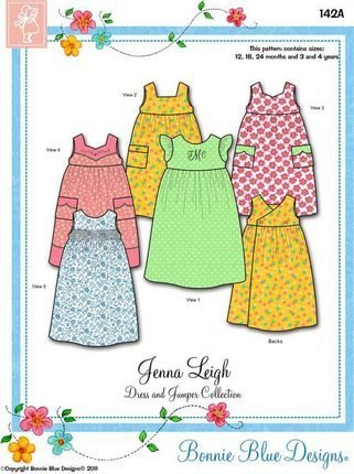 Jenna Leigh 12mo - 4yr 142Aby Bonnie Blue Designs