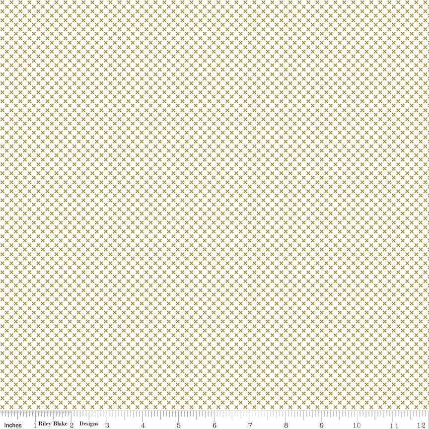 Kisses-Gold Sparkle-On White