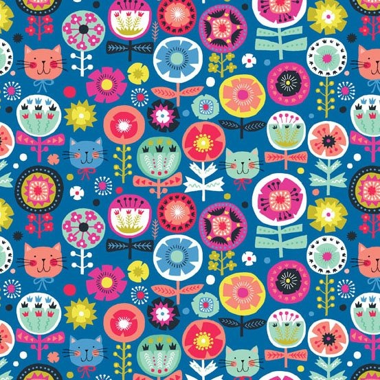 Kitty-Floral-Blue