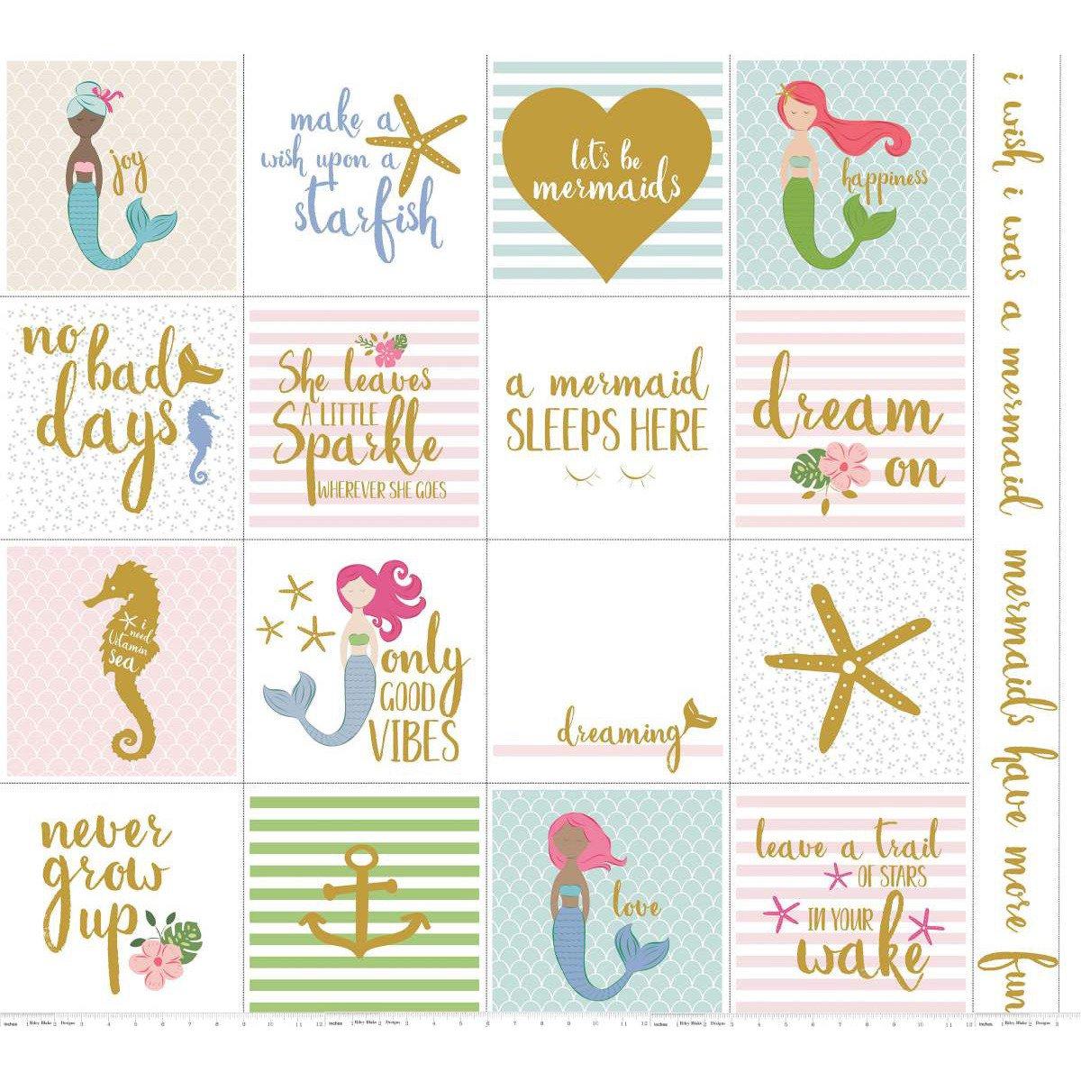 Let's Be Mermaids-Panel-White Sparkle