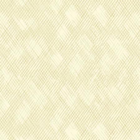 Metallic Mixers Gold Collection-Cross Hatch-Cream/Gold