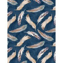 Nature Study-Feathers-Navy