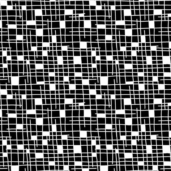 Panda Prints-Grid-Black