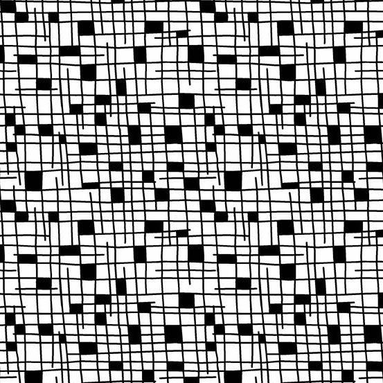Panda Prints-Grid-White