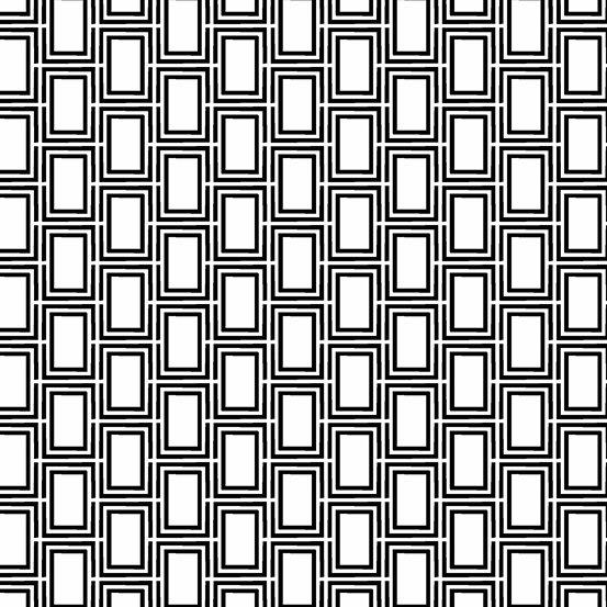 Panda Prints-Mod Rectangles-White