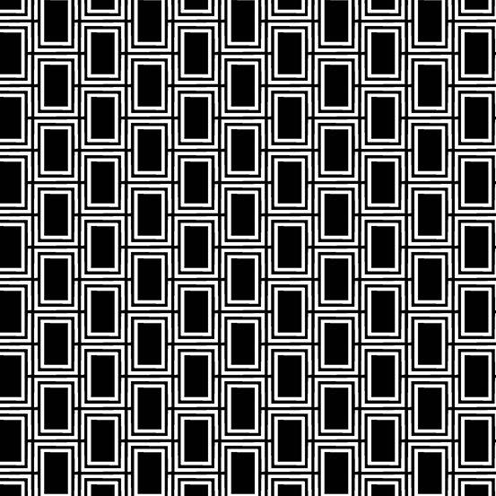 Panda Prints-Mod Rectangles-Black