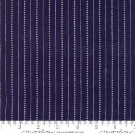 Picnic Basket Dobby-Plaid Stripes-Dark Blue