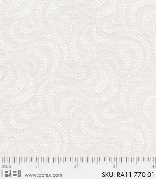 Ramblings 11-White on Ecru Waves
