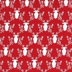 Rustique Winter-Bucks and Boughs-Cranberry