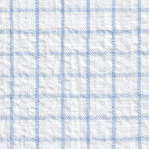 Seersucker Check Fabric #115 – Blue