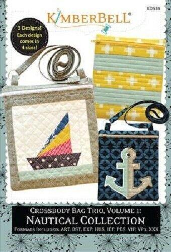 Kimberbell Nautical Collection CD Crossbody Bag Trio Vol.1