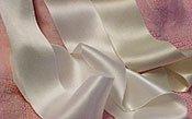 Silk Satin Ribbon 1/8 DOUBLE FACED-Cream