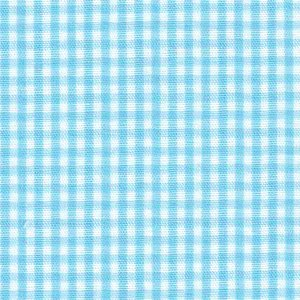Taffy Blue Gingham Fabric – 1/16