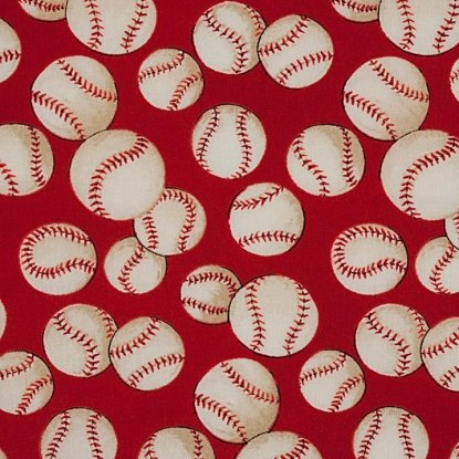The Great American Past Time-Baseball-Red