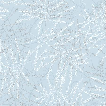 The Poinsettia Song-Ice Blue Branches w/Metallic