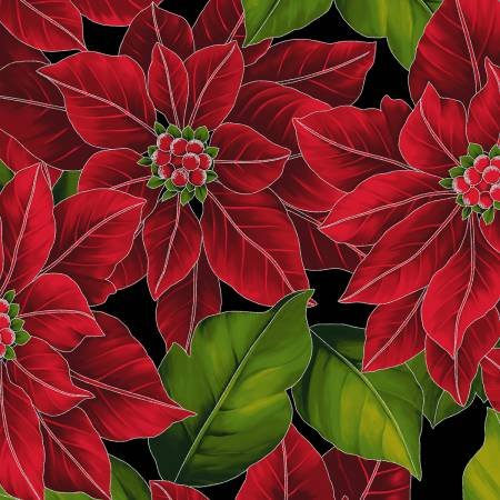 The Poinsettia Song-Onyx Poinsettia w/Metallic