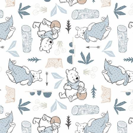 Wonder & Whimsy-Disney Pooh Blankets & Honey-White