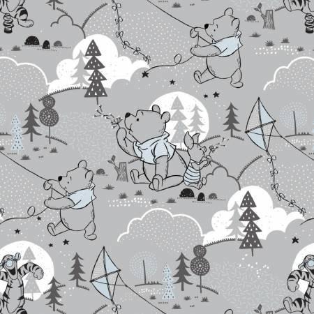Wonder & Whimsy Disney Pooh Cloud & Kites Light Grey