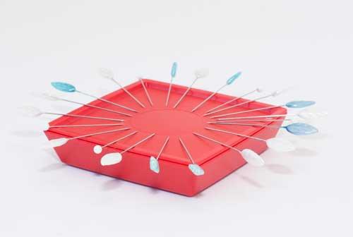 Magnetic Pin Organizer Red-Zirkel