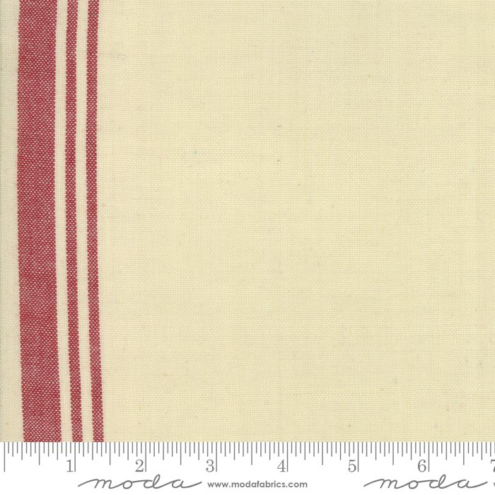 Toweling Atelier de France -pearl w/ red stripe