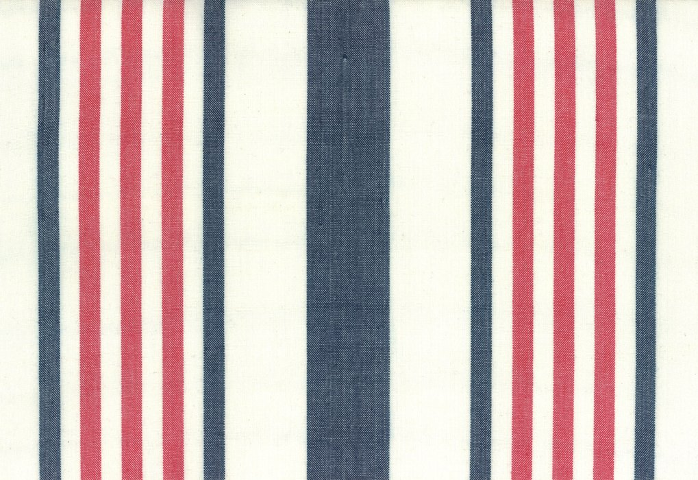 Toweling Picnic Point Red,White, Blue stripe