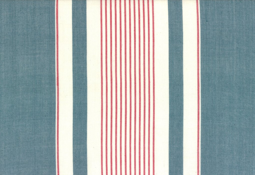 Toweling Picnic Point Denim Red White stripe