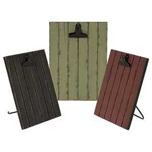 Standing Clipboard 5 x 7 -black, barn red or green