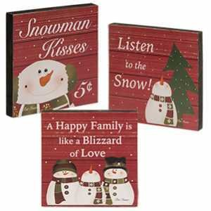 Snowman Blocks - Set of 3