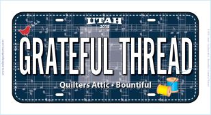 Grateful Thread License Plate -2018