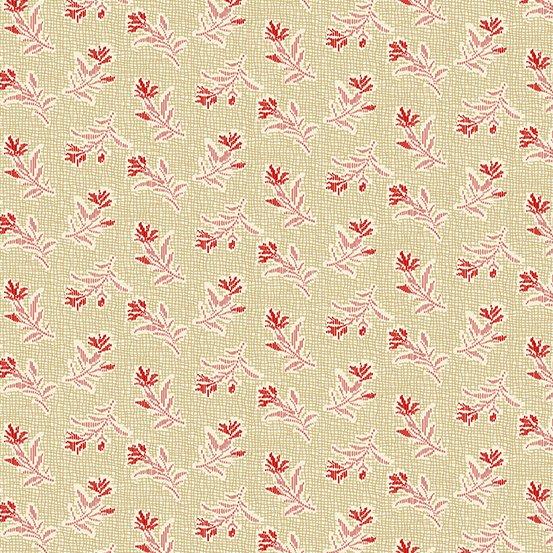 Little Sweetheart -Tan w/ Red Flower